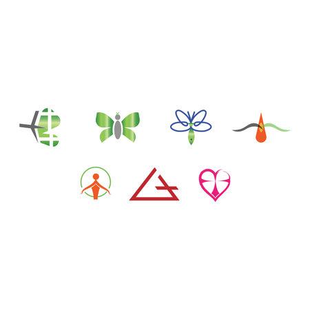 set of seven religion christianity hope forgiveness symbol isolated on white background