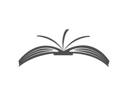 open book icon isolated on white background