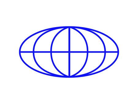 blue globe icon isolated on white background