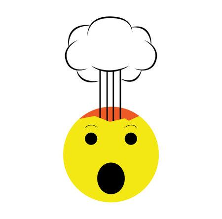 mind blown emoji icon isolated on white background