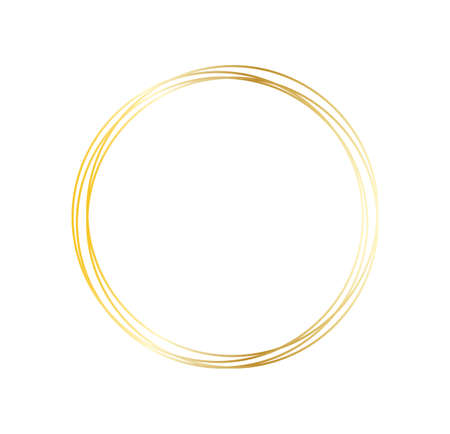 golden frame icon isolated on white background