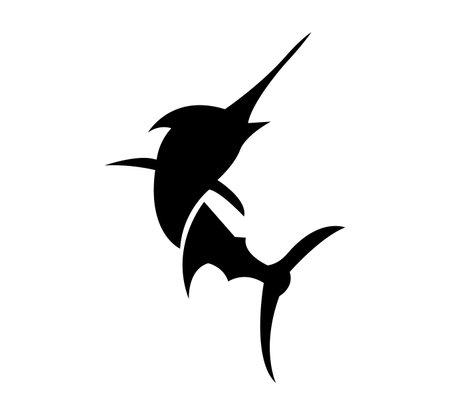 swordfish logo design isolated on white background