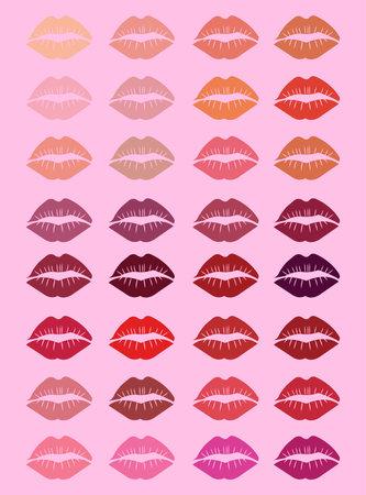 set of lips background