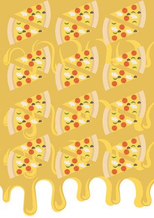 pizzas molten cheese background