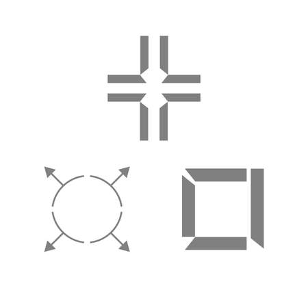 cross and other icons isolated on white background Ilustrace