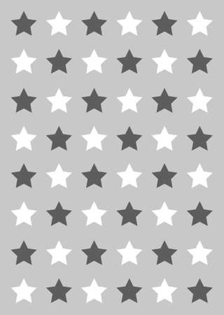grey and white star background Ilustrace