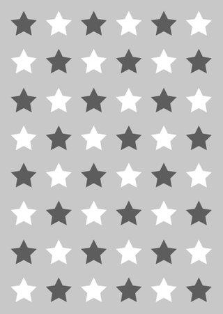 grey and white star background Ilustração