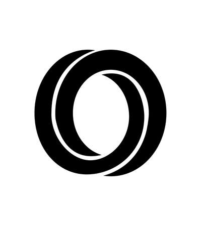 black abstract circle icon isolated on white background