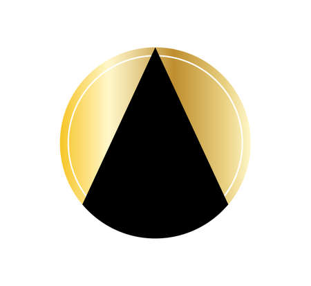 golden abstract oil icon isolated on white background.