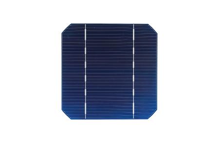 Solarzelle auf weißem Hintergrund.