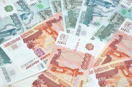 Russian money background Stock Photo
