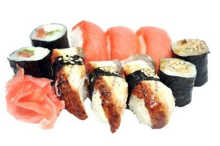 tekka: Sushi and rolls  Stock Photo