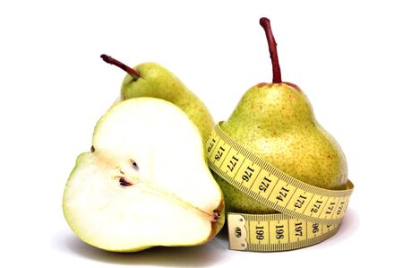 pears and centimeter Stock Photo