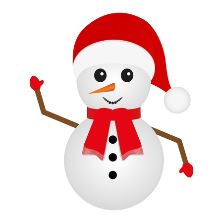 snowman looks right on a white background  Vector