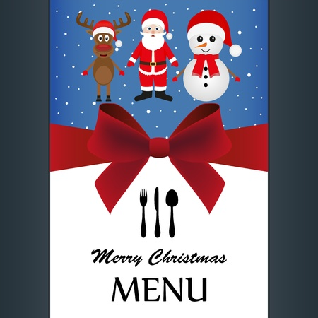 Special Christmas menu  Stock Vector - 16575937