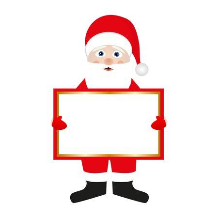 Santa Claus holding a banner Illustration