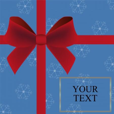 burgundy ribbon: Cartolina di Natale invito