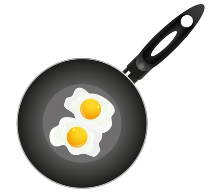 Fried eggs on pan  Stock Vector - 16599669