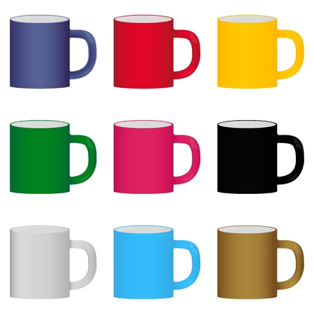 set of colorful cups Stock Vector - 16623146