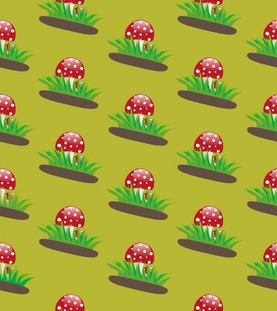 fly agaric: Seamless texture fly agaric Illustration