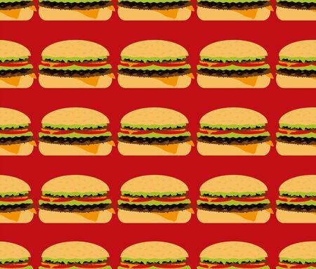 seamless textures, hamburger  Stock Vector - 16599711