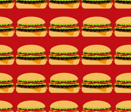 seamless textures, hamburger Stock Vector - 16599711