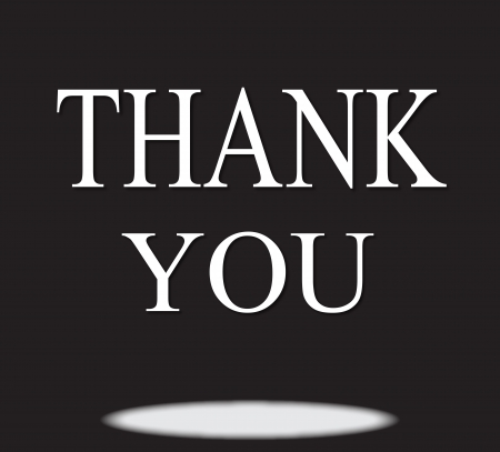 words  Thank You  on a black background Stock Vector - 16623171
