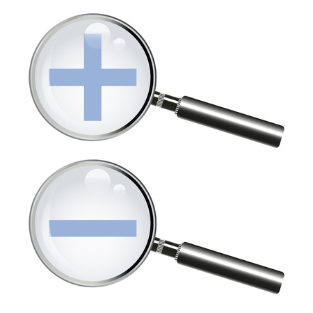 Two magnifying glass Stock Vector - 16618010