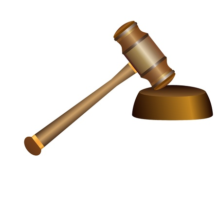 gavel on white background  Stock Vector - 16672176