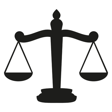law scale: Scales of Justice  Illustration