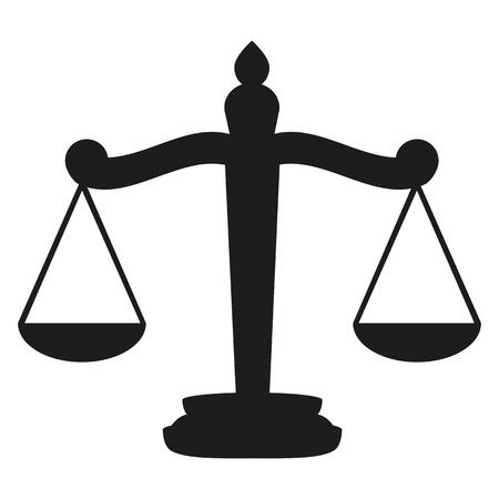 věta: Váhy spravedlnosti Ilustrace