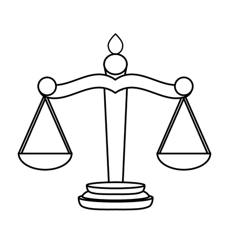 criminal justice: Scales of Justice  Illustration