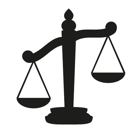 balanza justicia: Escalas de la justicia Vectores