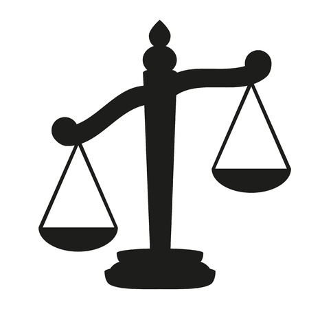 criminal law: Scales of Justice  Illustration