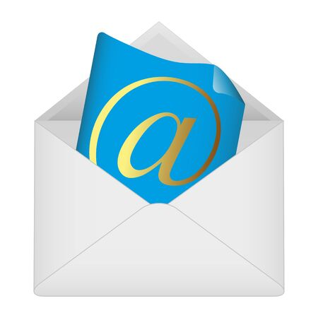 Email symbol in envelope  Vector