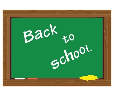Writing on the blackboard  Back to School Stock Vector - 16718146