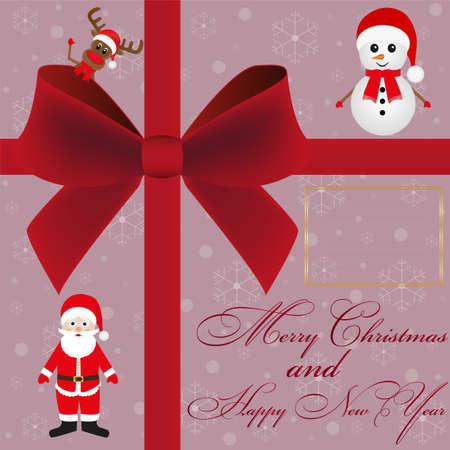 burgundy ribbon: Invito carta di Natale