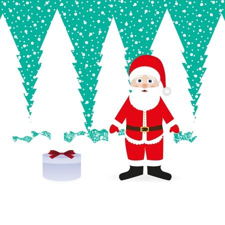 Santa Claus and gift Stock Vector - 16973686