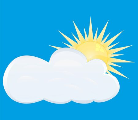 partly cloudy Stock Vector - 16740231