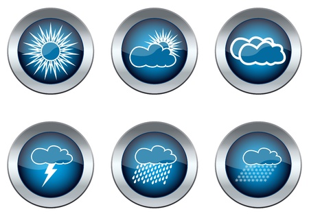 Weather set of buttons  Stock Vector - 16973709