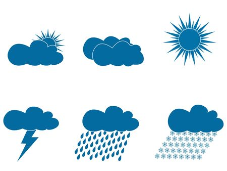 weather forecast icons  Stock Vector - 16973707