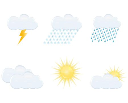 weather forecast icons Stock Vector - 16973710