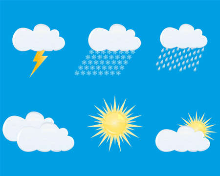 weather forecast icons Stock Vector - 16973703