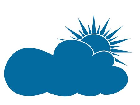 partly cloudy Stock Vector - 16973693