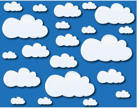 Clouds in the blue sky Stock Vector - 16973706