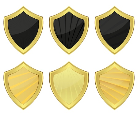 Set of shields  Stock Vector - 16740235