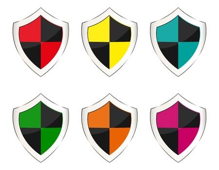 set of shields Stock Vector - 16973735