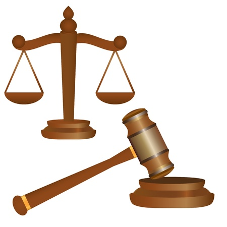gavel and scales Stock Vector - 16973751