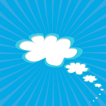 Clouds in the sun Vector