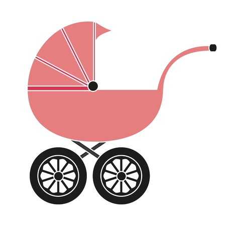 Baby carriage for the girl Stock Vector - 17054906